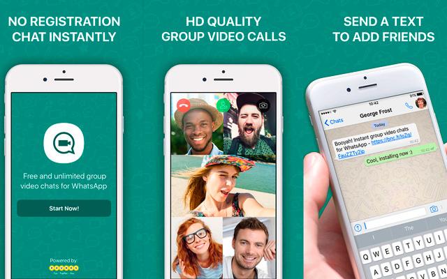 Conoce Booyah, la App que trae videoconferencia en grupo a WhatsApp