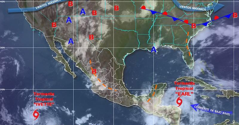Se forma tormenta tropical Ivette en el Pacífico