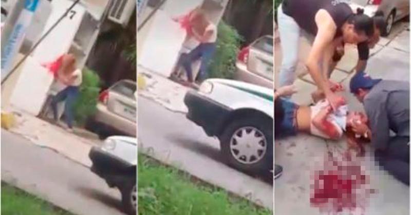 Mujer se golpea reiteradamente la cabeza contra la pared
