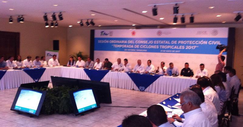 Instala Tamaulipas consejo de PC de cara a temporada de huracanes