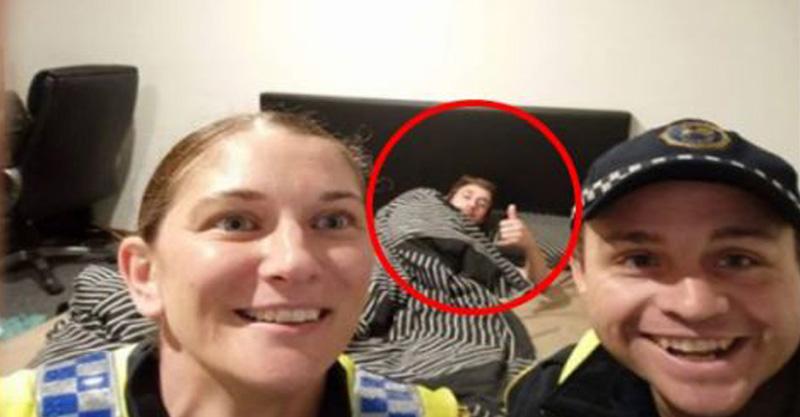 Policías lo llevan borracho a su casa y le dejan un recuerdito
