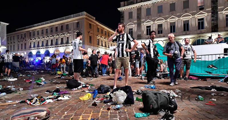 Ascienden a mil los heridos tras estampida en Turín