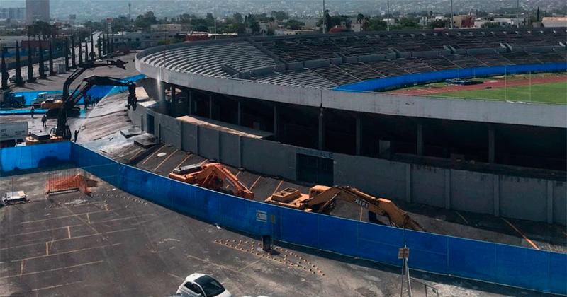 Comienzan demolición del Estadio Tecnológico de Monterrey