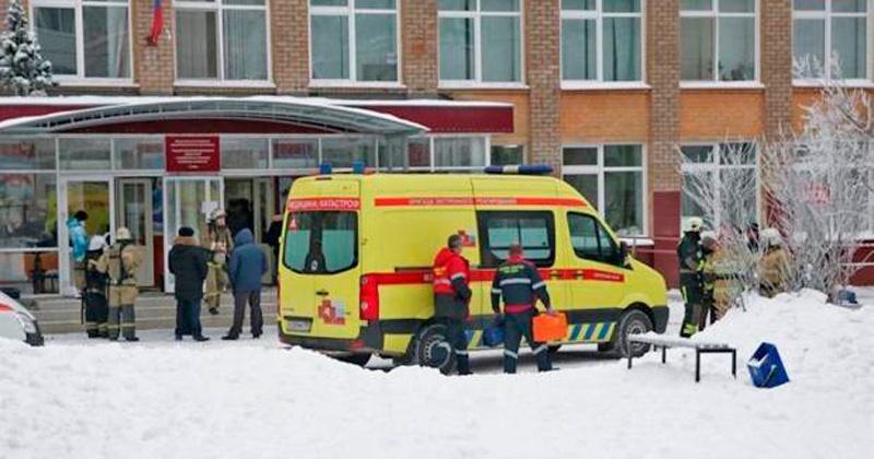 Ataque con cuchillos en una escuela en Rusia: hay 15 heridos