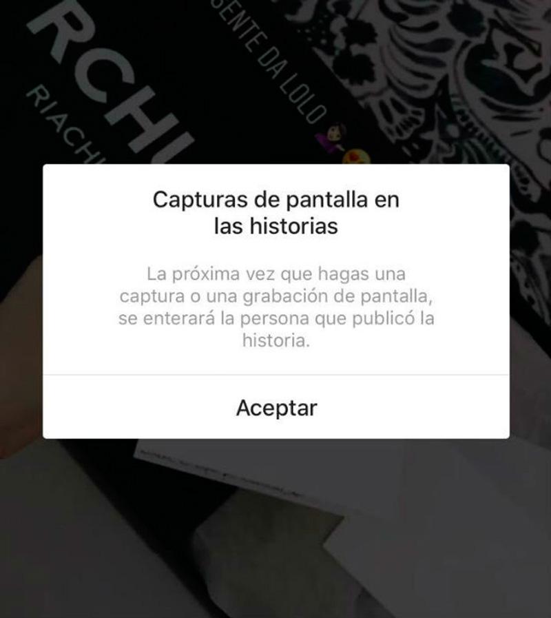 Instagram te avisará si hacen capturas de tus historias