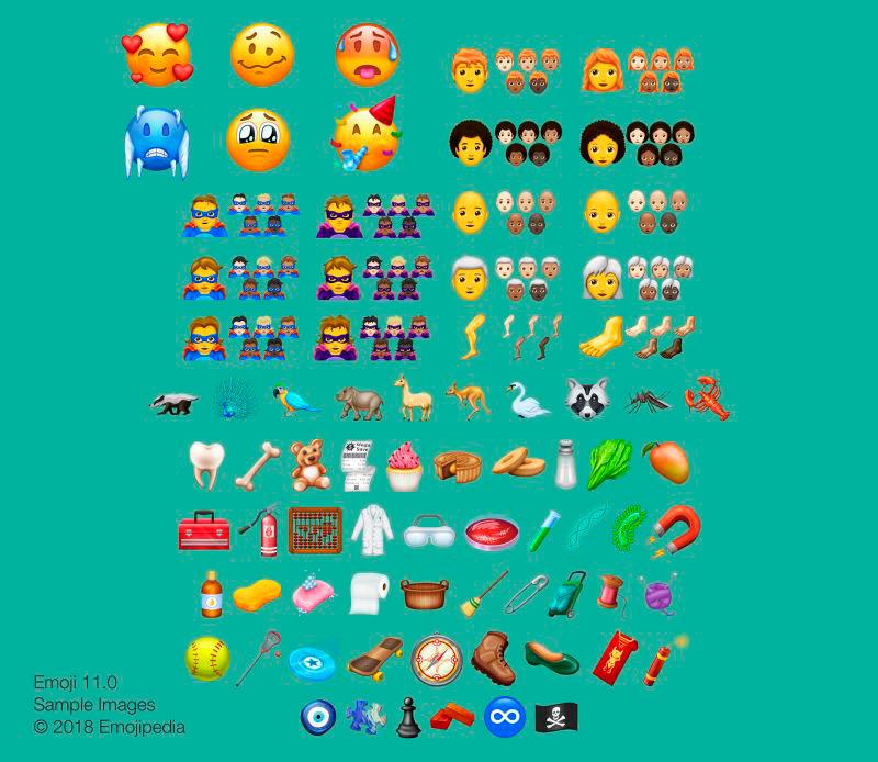 Más de 150 emojis estarán disponibles durante 2018