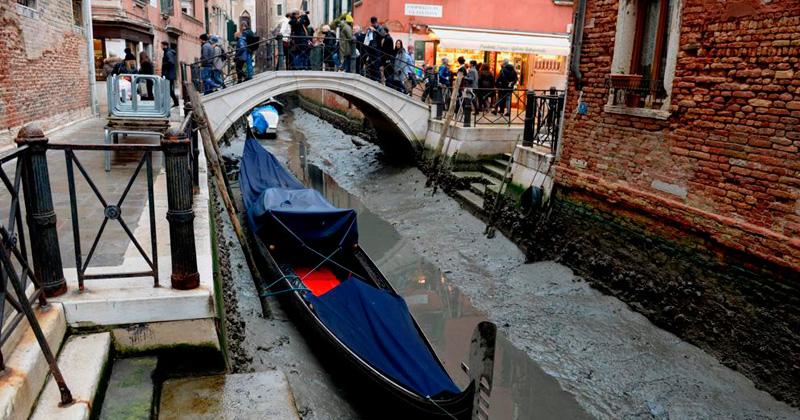 Los canales de Venecia se están secando y preocupan al mundo