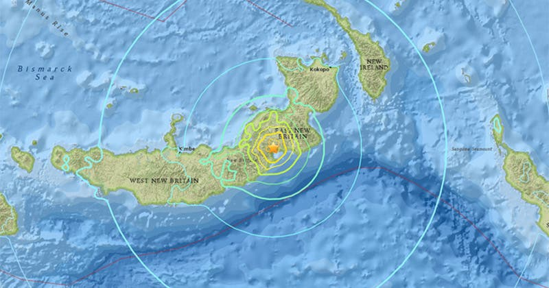 Sismo de 6,9 sacude a Papúa Nueva Guinea