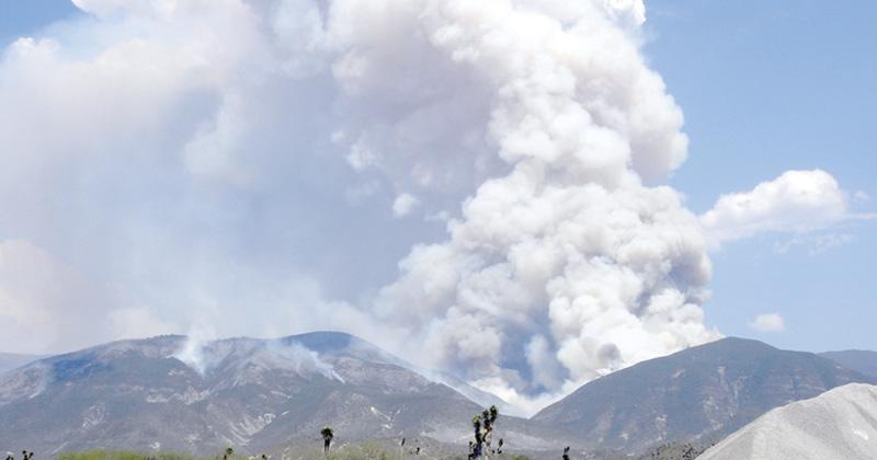 Protección Civil combate incendios forestales en Tamaulipas