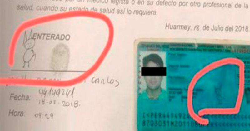 Causa furor en las redes con su creativa firma — Perú