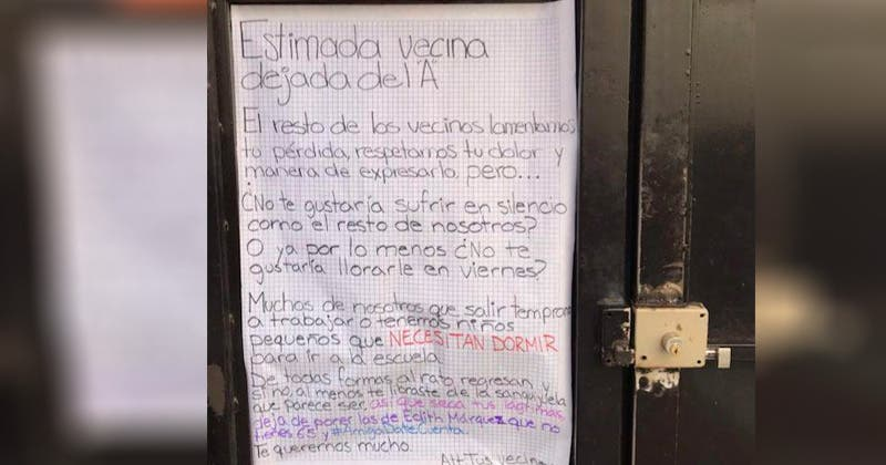 Deja de poner Edith Márquez: vecinos a mujer dolida
