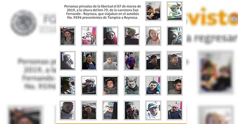 Acepta FGR que 26 migrantes están secuestrados y difunde sus rostros