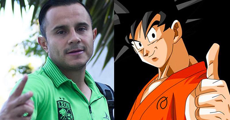Gokú felicita a jugador del León