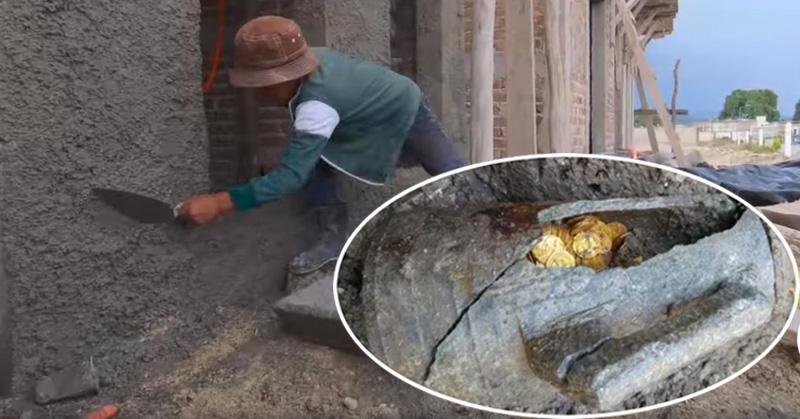 Cuando reparaban una antigua casa encuentran tesoro de monedas de oro