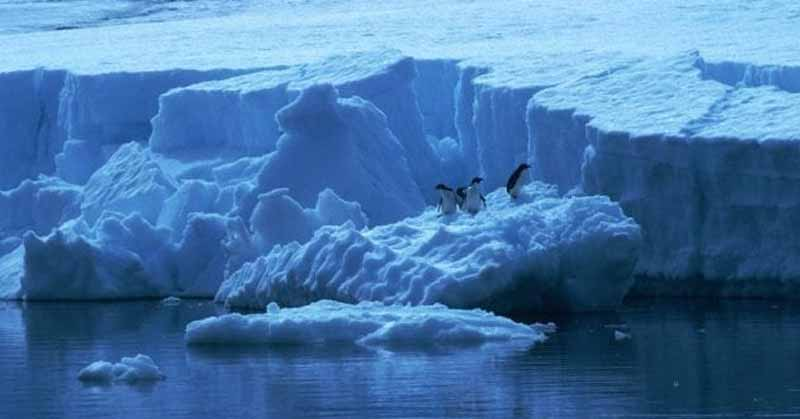 Imágenes satélitales muestran la enorme fractura de un iceberg — Antártida